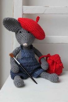 art backpack crochet fashion